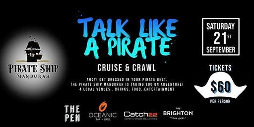 TALK LIKE A PIRATE CRUISE AND CRAWL