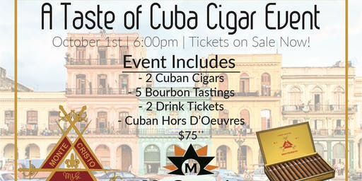 Cuban Cigar & Bourbon Tasting Event on McClain's Patio