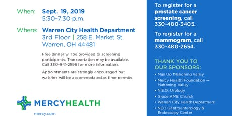 Free Health Screenings tickets