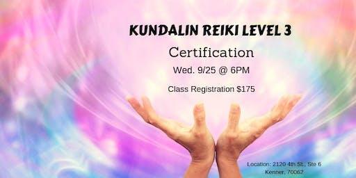 Kundalini Reiki Lvl 3 Certification