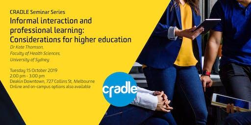CRADLE Seminar Series: Kate Thomson on Informal Professional Learning