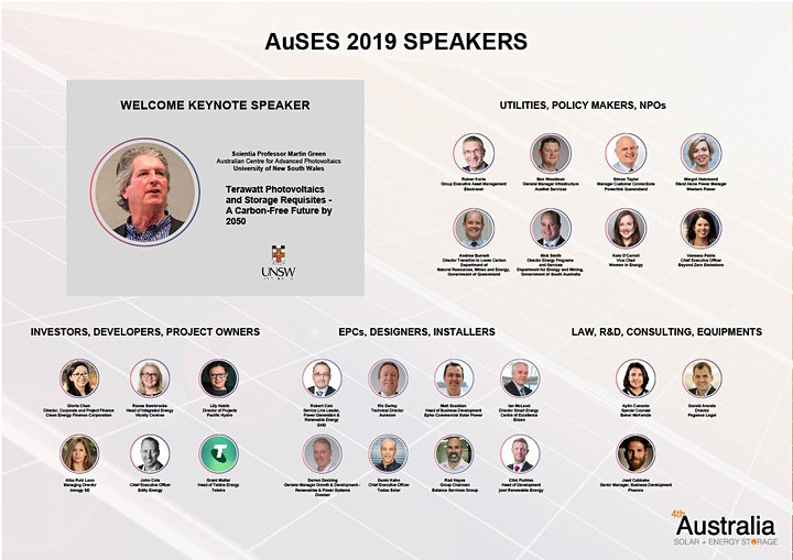 4th Australia Solar + Energy Storage 2019 image