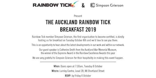 The Auckland 2019  Rainbow Tick Breakfast