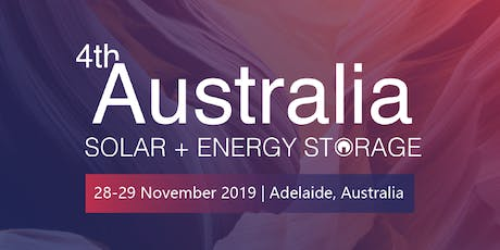 4th Australia Solar + Energy Storage 2019 tickets