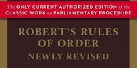 Robert's Rules Open House: Parliamentary Procedure Workshop tickets