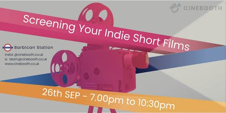 Cinebooth - Screening Indie Short Films tickets
