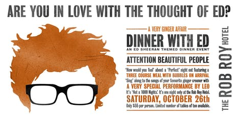 Dinner with Ed tickets