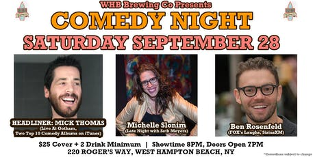 Comedy Night w/ Mick Thomas from Live At Gotham @ WHB Brewing Co tickets