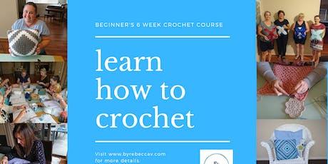 Beginner's 6 week Crochet Course tickets