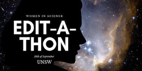 Women scientists Wikipedia edit-a-thon tickets
