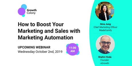 Webinar: How to Boost Your Marketing and Sales with Marketing Automation tickets