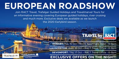 European Roadshow with RACT Travel, Travelmarvel & Trafalgar