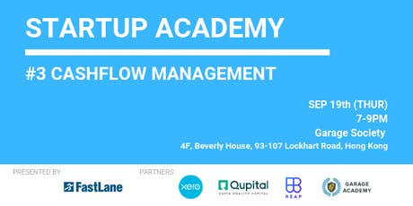 FastLane Startup Academy #3 - How to be better in cashflow management tickets