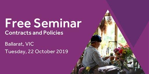 Free Seminar: Contracts and policies – Ballarat, 22nd October