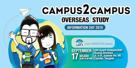 Campus 2 Campus Overseas Study - Information Day 2019 tickets