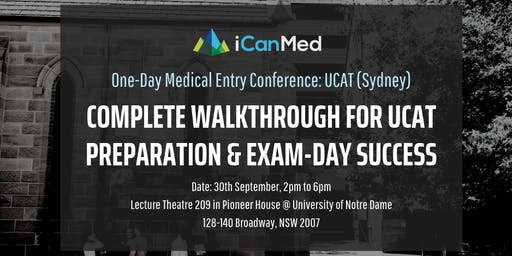 One-Day Medical Entry Conference: Free UCAT Workshop (SYD)