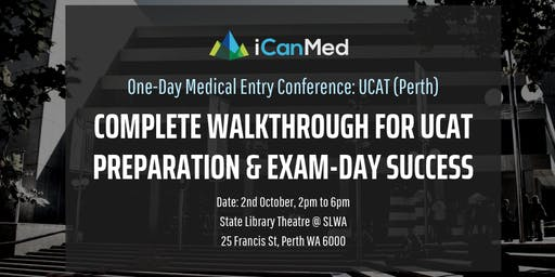 One-Day Medical Entry Conference: Free UCAT Workshop (PERTH)