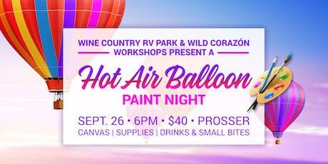 Hot Air Balloon Paint Night tickets