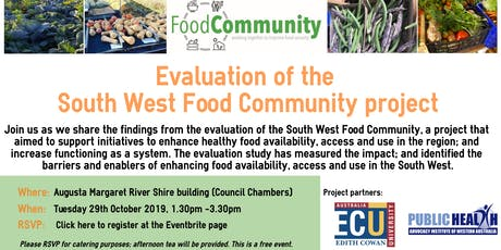 South West Food Community Evaluation tickets
