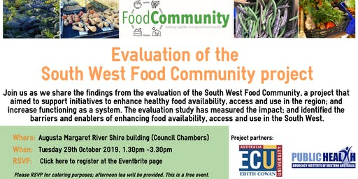South West Food Community Evaluation