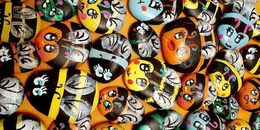 Australian Bees- Paint a Rock Bee - October School Holidays - Campbelltown Library