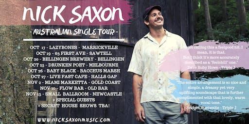 "Nick Saxon live at ""Lazybones"" Marrickville"
