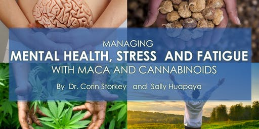 Managing mental health, stress and fatigue with maca and cannabinoids