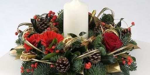 Christmas table arrangement workshop
