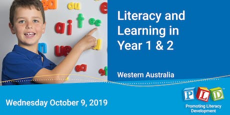 Literacy and Learning in Year 1 & 2 October 2019 tickets
