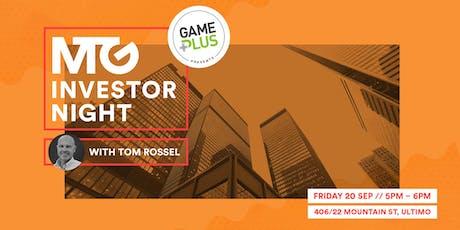MTG Investor Night tickets