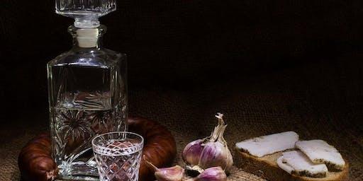 Dat is typisch Osteuropa:  Essen wie beim Vati ohne Wodka-Flasche