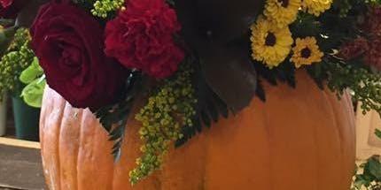 Pumpkin floral arrangement class