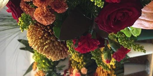 Floral pumpkin arrangement class