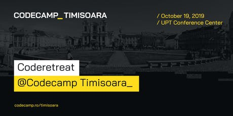 Coderetreat @Codecamp Timisoara, 19 Octombrie 2019 tickets
