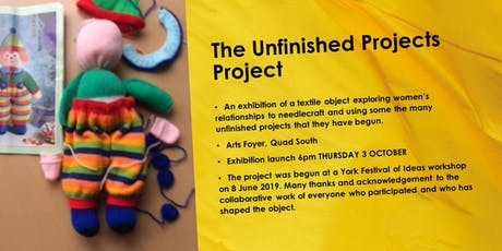 Launch of the Unfinished Projects Exhibition tickets