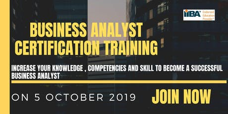 Business Analyst Certification Training tickets