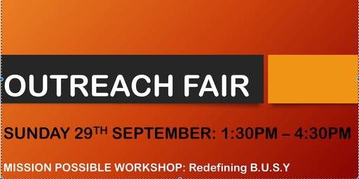 Outreach Fair & Mission Possible Workshop
