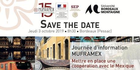 """Journée d'information """"Mettre en place une coopération avec le Mexique"""" billets"""