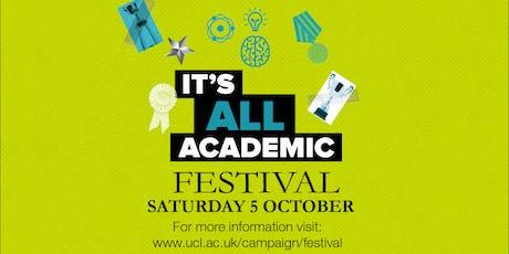 UCL It's All Academic Festival 2019: Eliza Dolittle's London Phonetics Tour (14:00)   tickets