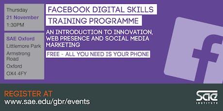 SAE Oxford: Facebook Digital Skills Training - innovation, web presence and social media marketing tickets