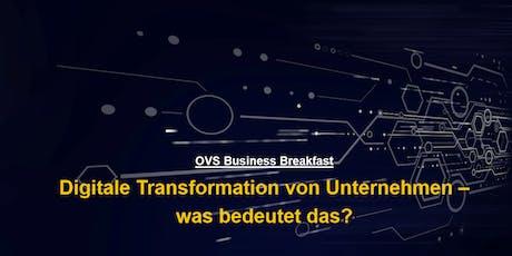 Digitale Transformation von Unternehmen Tickets