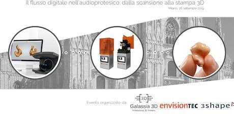 Il flusso digitale nell'Audioprotesico: dalla scansione alla stampa 3D biglietti