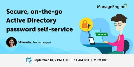 Secure, on-the-goActive Directory password self-service tickets