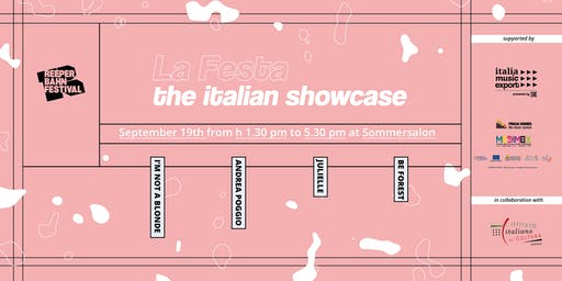 La Festa: the Italian showcase at Reeperbahn fest 2019