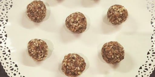 Protein Energy Ball Demonstation and tasting at Almond & Co