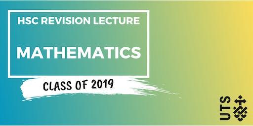 Mathematics - HSC Revision Lecture (UTS)