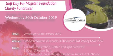 Charity Golf Event Fundraiser For McGrath Foundation Organised by Priority Business Lawyers and Bungree Aboriginal Association tickets