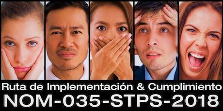 "NOM-035-STPS-2018 / TIJUANA  ""Ruta de Implementación & Cumplimiento"" boletos"