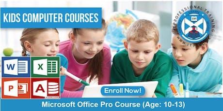 Kids Computer Course- MS Office Pro Course (Age: 10-13) @ Edinburgh  tickets