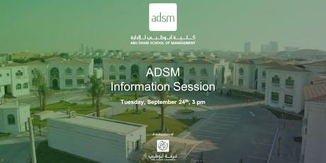 ADSM Information Session tickets
